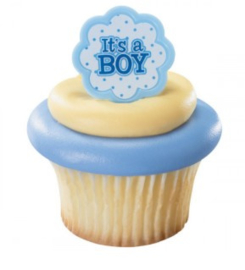 It's a boy cupcake ringen 6 st.