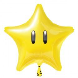 Super Mario Bros ster folieballon 43 cm.