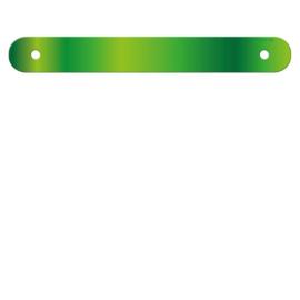 Banner letter tussenstuk lime groen