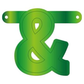 Banner symbool & lime groen