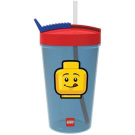 Lego Iconic Classic drinkbeker met rietje 500 ml.
