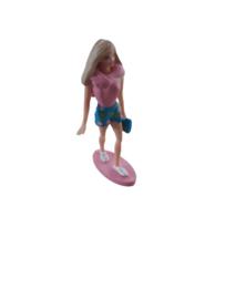 Barbie taart topper 7,5 cm.