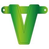 Banner letter V lime groen