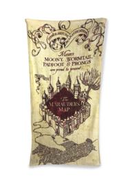 Harry Potter strandlaken The Marauders Map 75 x 150 cm.