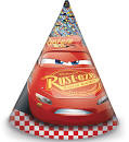 Disney Cars 3 feesthoedjes 6 st.