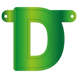 Banner letter D lime groen