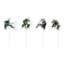 Ninja Turtles mini taart kaarsjes set