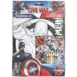 Avengers Civil War kleur- stickerset