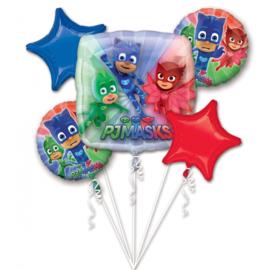PJ Masks folieballonnen boeket 5-delig