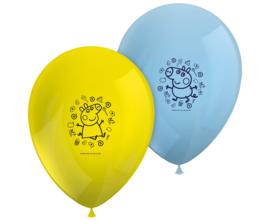Peppa Pig ballonnen Messy Play ø 28 cm. 8 st.