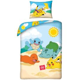 Pokémon dekbedovertekset Beach Day 140 x 200 cm.