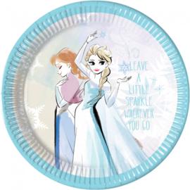 Disney Frozen Sparkle bordjes ø 23 cm. 8 st.