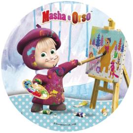Masha and the Bear ouwel taart decoratie ø 20 cm. D