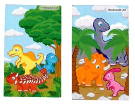 Dinosauraus mini notitieboekje p/stuk
