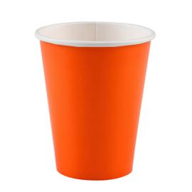 Oranje wegwerp bekertjes 8 st.