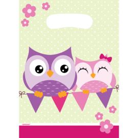 Happy Owl traktatiezakjes 8 st.
