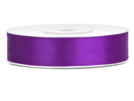 Satijn lint paars 12 mm. x 25 mtr.
