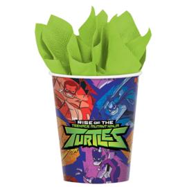 Ninja Turtles bekertjes party 266 ml. 8 st.