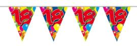 Vlaggenlijn balloons 18 jaar 10 mtr.