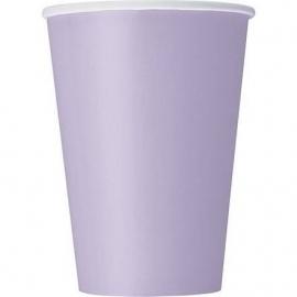 Lavendel wegwerp bekertjes 27 cl. 8 st.