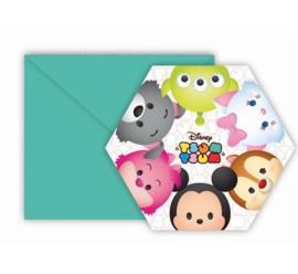 Disney Tsum Tsum uitnodigingen 6 st.