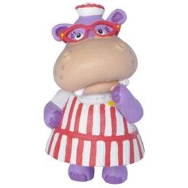 Disney Doc McStuffins Hallie Hippo taart topper decoratie 4,8 cm.