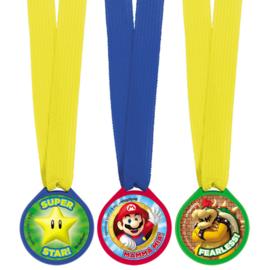 Super Mario Bros uitdeel medailles 12 st.