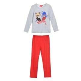 Ladybug pyjama grijs-rood mt. 104