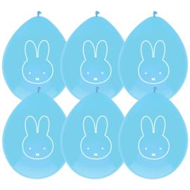 Baby Nijntje ballonnen blauw ø 30 cm. 6 st.