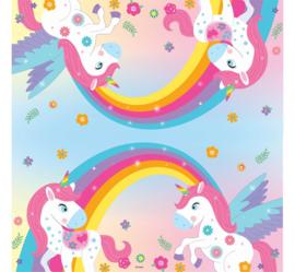 Rainbow Unicorn servetten 33 x 33 cm. 20 st.