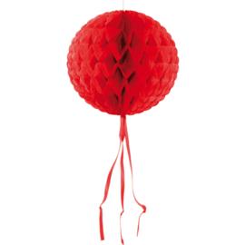 Honeycomb bal rood ø 30 cm.