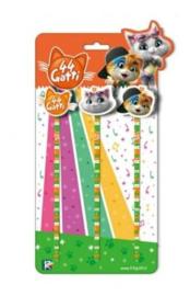 44 Cats potloden en gummen set
