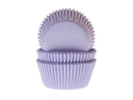 Cupcake vormpjes lila 50 st.