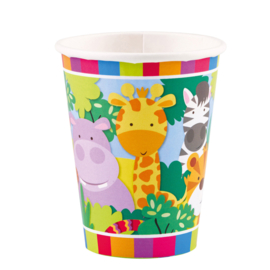 Jungle bekertjes Animal Friends 8 st.