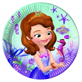 Disney Sofia the First Pearl of the Sea bordjes ø 23 cm. 8 st.