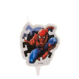 Spiderman 2D taart kaars