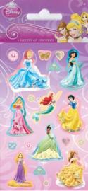Disney Princess stickervel 6 st.