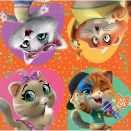 44 Cats servetten 33 x 33 cm. 16 st.