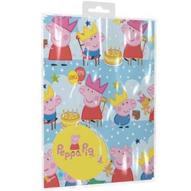 Peppa Pig cadeau inpakpapier 50 x 70 cm. 2 st.