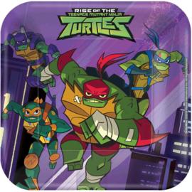 Ninja Turtles gebakbordjes party 17,8 x 17,8 cm. 8 st.