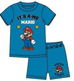 Super Mario Bros shortama turquoise mt. 104