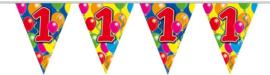 Vlaggenlijn balloons 1 jaar 10 mtr.
