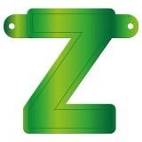 Banner letter Z lime groen