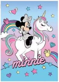 Disney Minnie Mouse Unicorn fleecedeken 100 x 140 cm.