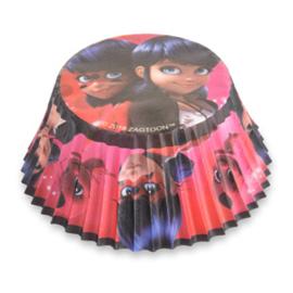 Ladybug cupcake vormpjes 50 st.