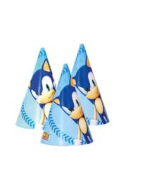 Sonic the Hedgehog feesthoedjes 6 st.