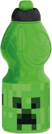 Minecraft drinkfles 400 ml.
