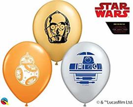 Star Wars Droids ballonnen ø 12 cm. 10 st.