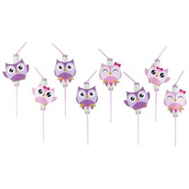 Happy Owl rietjes 8 st.