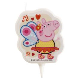 Peppa Pig taart kaars 2D 7,5 cm.
